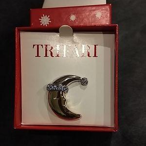 Trifari Sleeping Man in the Moon Pin